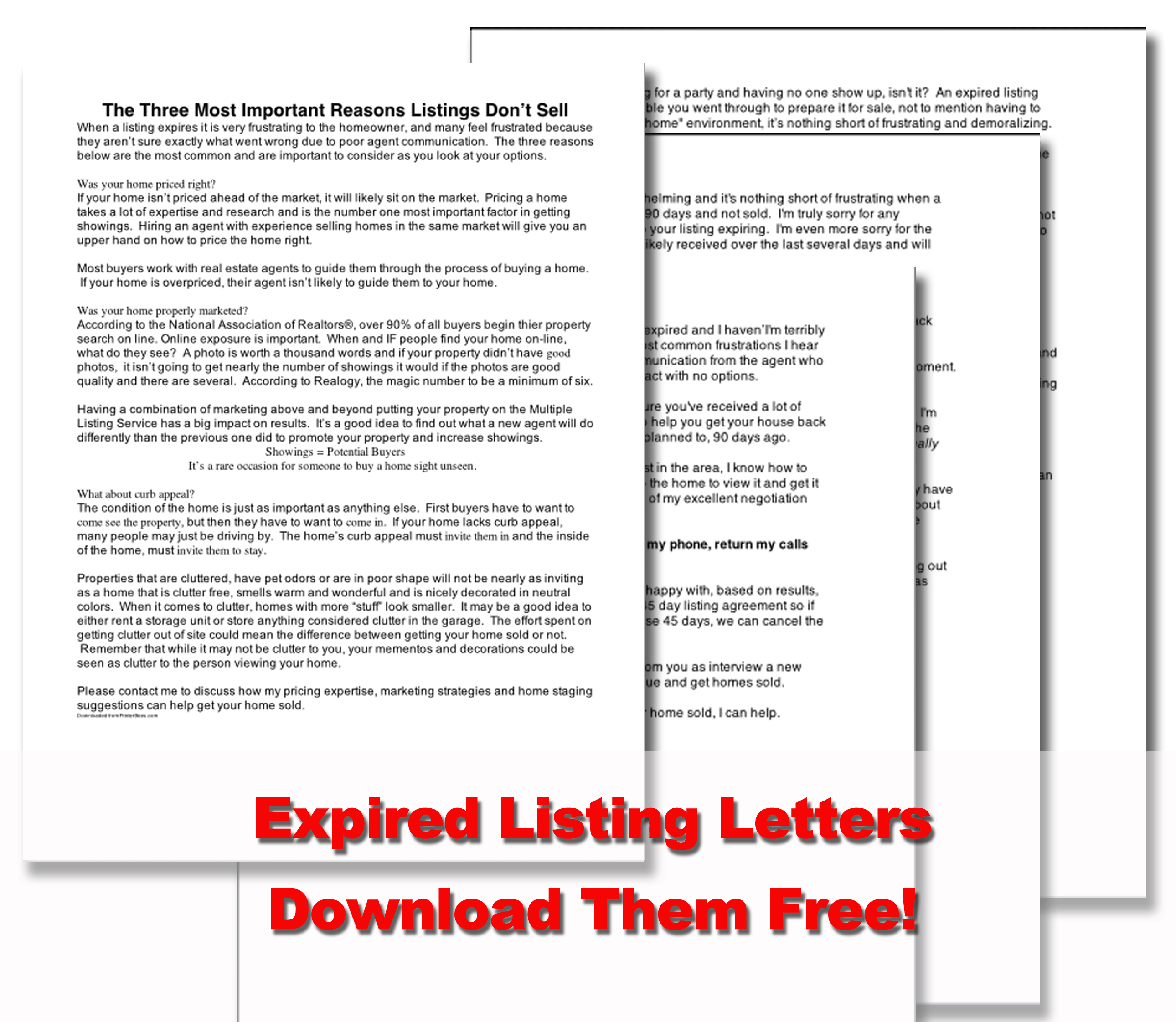 expired listing letters download free marketing real estate magazine