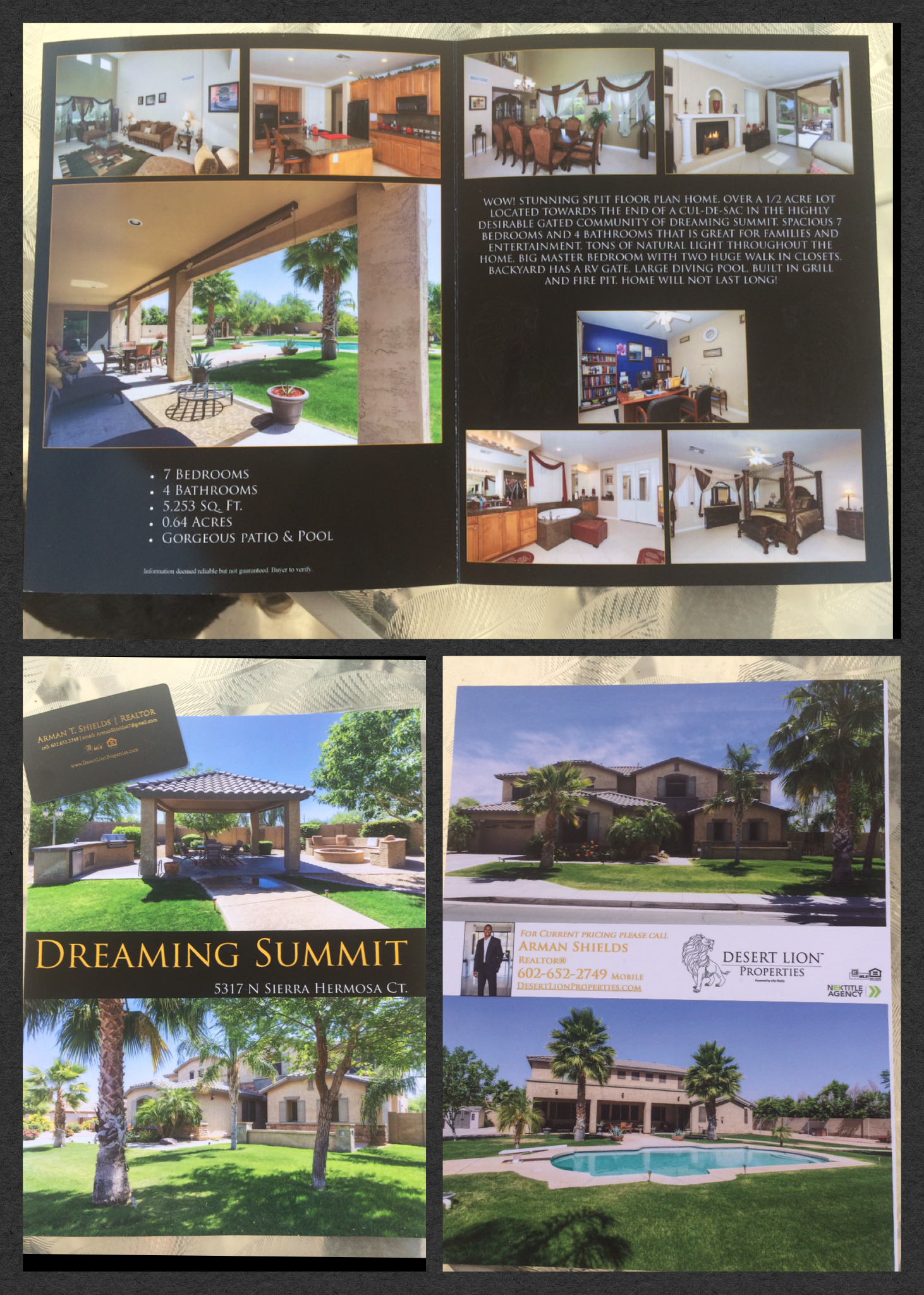 real estate listing flier sample