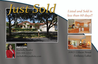 A System For Just Listed Just Sold Postcards - Real estate just sold flyer templates